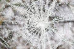 Automóvil roto de cristal Foto de archivo