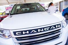 Automóviles chinos de Changan en la exhibición en la exposición del coche de Dongguan Foto de archivo