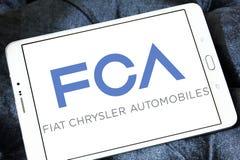Automóviles de Fiat Chrysler, logotipo de la compañía de FCA imagen de archivo