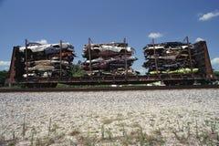 Automóviles demolidos Fotografía de archivo