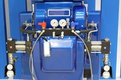 automaat Hydraulisch materiaal voor deklagen en polyurea royalty-vrije stock foto's