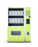 Automat auf weißem Hintergrund Wiedergabe 3d Stockfoto