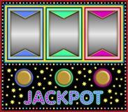 Automat do gier z trzy pustymi ramami ilustracji