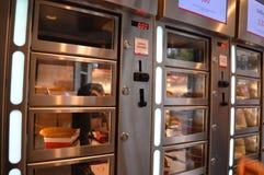 Automat von gebratenen Fischen Lizenzfreie Stockfotos