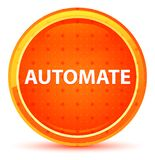 Automate Natural Orange Round Button. Automate Isolated on Natural Orange Round Button royalty free illustration