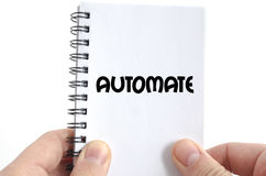 Automate text concept. Isolated over white background royalty free stock photo