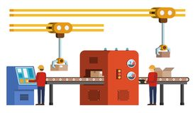 Assembly line. Automated conveyor system. Stock Image