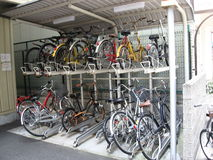 Automated Bicycle parking facility Stock Photos