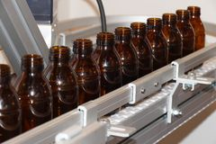 Bottle line stock images