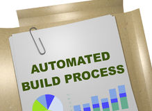 Automated Build Process concept. 3D illustration of AUTOMATED BUILD PROCESS title on business document Royalty Free Stock Photography