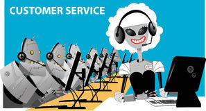 Automated call center Stock Images