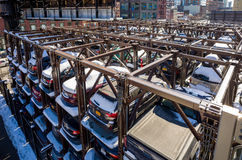 An automated car parking system New York Royalty Free Stock Images