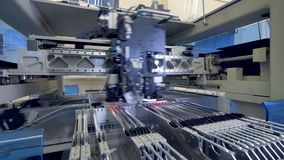 Circut Board machine Produces Printed digital electronic board. 4K.