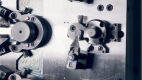 Automated CNC machine. Automated drilling CNC machine works stock video