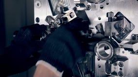 Automated CNC machine stock video