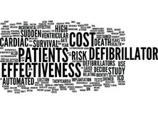 Automated Defibrillator And Cost Effectiveness Word Cloud Concept Royalty Free Stock Photography