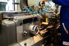 Automated drilling machines Stock Photos