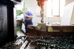 Automated drilling machines Stock Photography