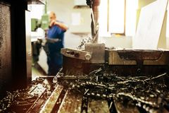 Automated drilling machines Stock Image