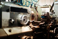 Automated drilling machines Royalty Free Stock Photo