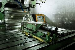 Automated drilling machines Royalty Free Stock Images