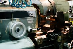 Automated drilling machines Royalty Free Stock Photos