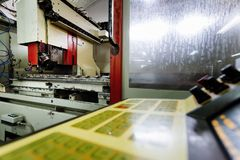 Automated drilling machines Stock Images