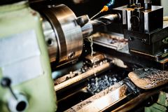 Automated drilling machines Royalty Free Stock Image
