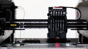 Automated Electronic circuit board production stock video