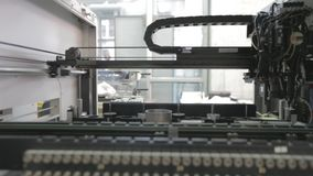 Automated Electronic circuit board production stock video footage