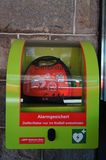 Automated External Defibrillator at  train station, St.Moritz,Sw Royalty Free Stock Photo