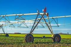 Automated farming irrigation sprinklers Stock Photos