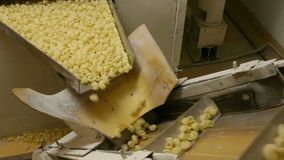 Automated food factory stock video footage