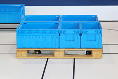 Automated guided pallet Stock Photography