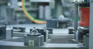 Automated machine in a production line. Of parts for the automotive industry stock video