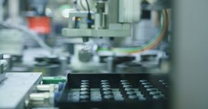 Automated machine in a production line. Of parts for the automotive industry stock video footage