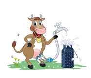 Automated milk distributor Self-service on the farm Royalty Free Stock Images
