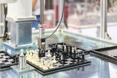 Free Automated Modeling System Checking And Sorting Handling And Movement Workpiece Sample Chess On Chess Board In Factory Stock Images - 152925264