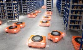 Automated modern warehouse stock illustration