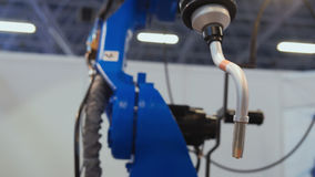Automated robotic machine - mechanical arm for industrial welding Royalty Free Stock Photography