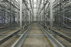 Automated shelving system Royalty Free Stock Photography