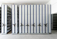 Automated shelving systems Stock Images