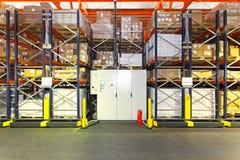 Automated shelving warehouse stock photography