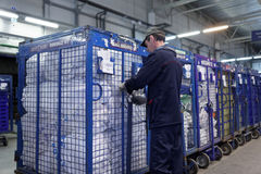 Automated sorting center of Russian Post in St. Petersburg Royalty Free Stock Photography