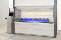 Automated storage carousel Stock Images