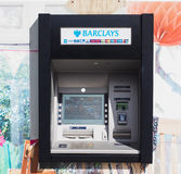 Automated Teller Machine (ATM) in London. LONDON, UK - CIRCA JUNE 2017: Barclays bank invented Automated Teller Machine (ATM) in 1967. It is now widely used Stock Photo