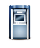 Automated teller machine. 3d illustration of Automated teller machine  on white Royalty Free Stock Images