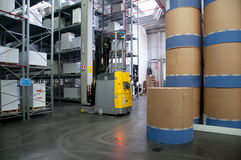 Automated warehouse (paper) Royalty Free Stock Photos