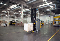 Automated warehouse (paper) Stock Image