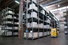 Automated warehouse (paper) Stock Images